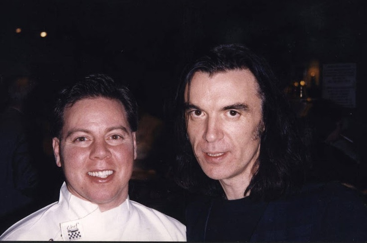 With David Byrne in Moscow 1996