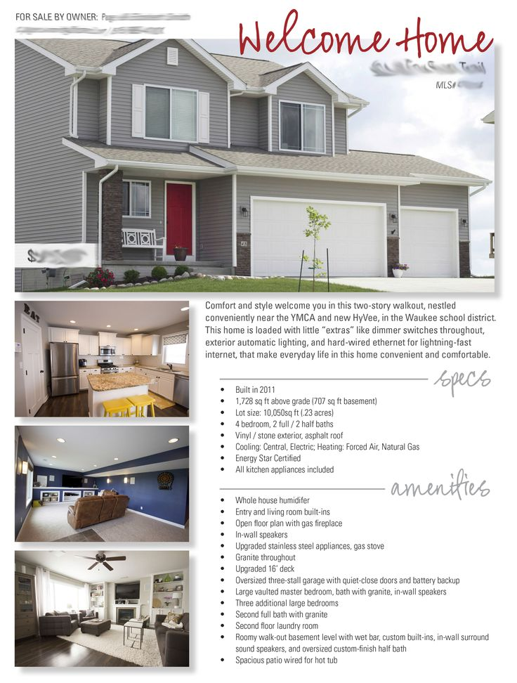 20 best Selling the house images on Pinterest Real estate - home for sale brochure
