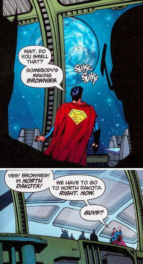 Superman gets the munchies, and I want to know the reactions of the rest of the Justice League.