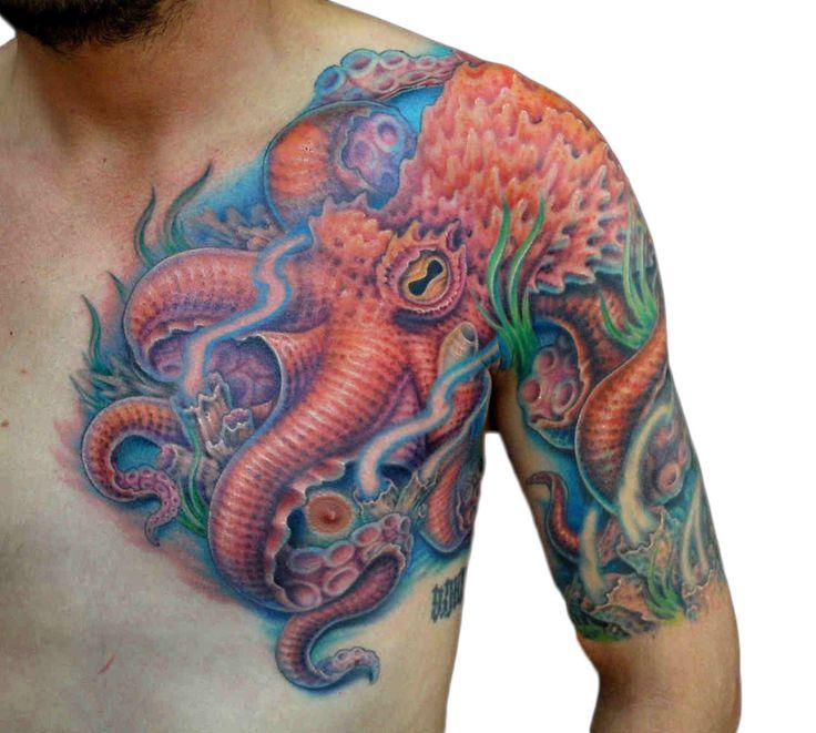 30 Best Big Octopus Tattoo Images On Pinterest