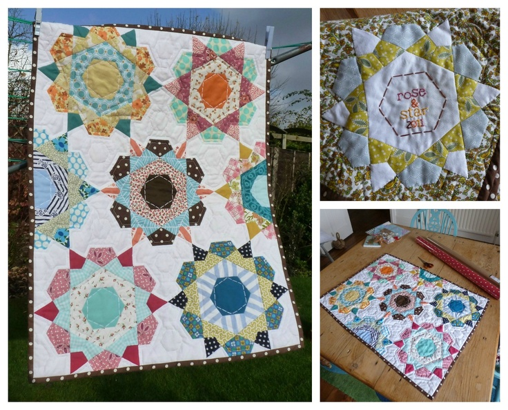 selfsewn: English paper piecing quilts hand pieced quilts Pintere?