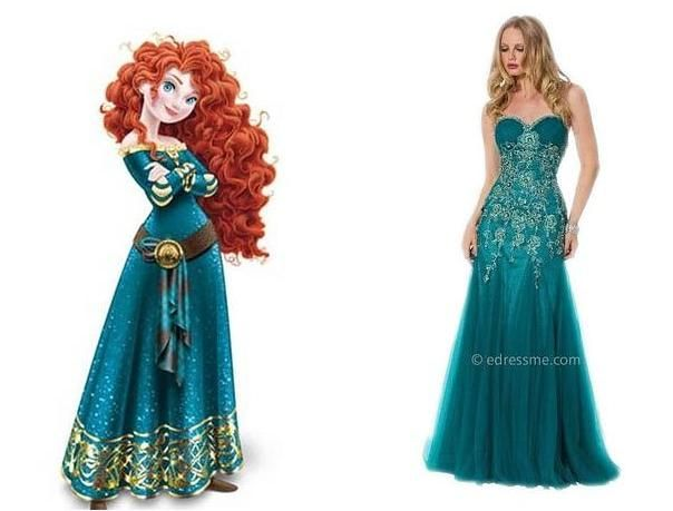 Awesome Prom Dresses Inspired By Disney Characters 19 Merida Pinterest And