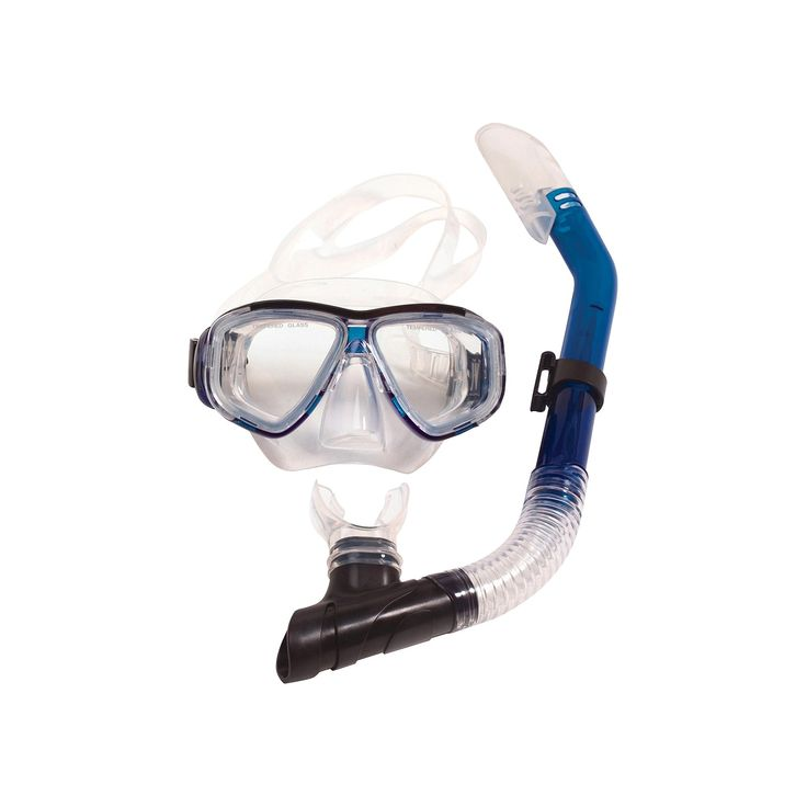 Poolmaster Adult Malibu Silicone Pro Swim Mask and Snorkel Set