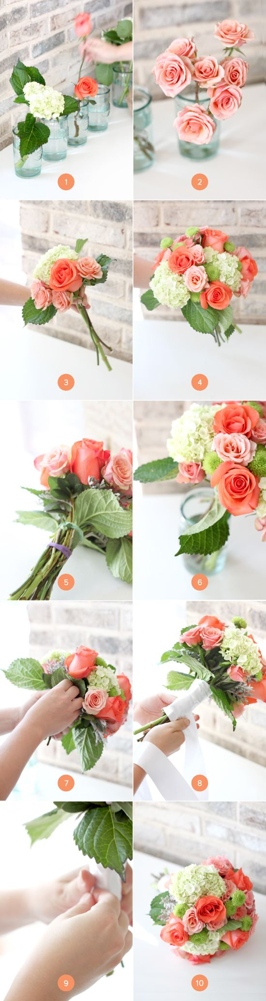 DIY grocery store bridal bouquet - instructions on minted.com/julep