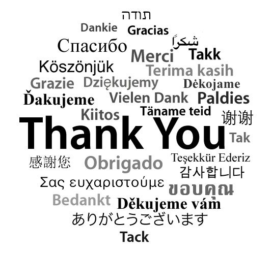 Gracias! in some many worlds means so much