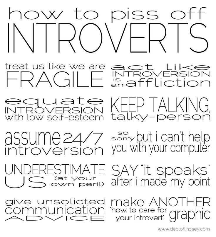 personality psychology and introverts Going further on this line of jung's theory, he said that we all think, feel, sense and experience the world in many different ways he identified four essential psychological functions: thinking, feeling, sensation, and intuition each function may be experienced in an introverted or an extraverted fashion, and one of the functions.