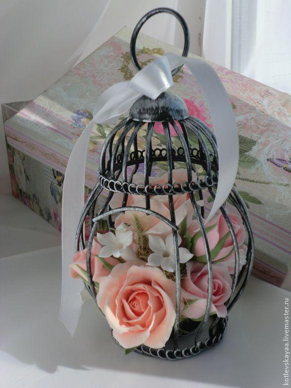 Купить Шебби-клеточка с розами - кремовый, шебби-шик, шебби стиль, стиль шебби шик