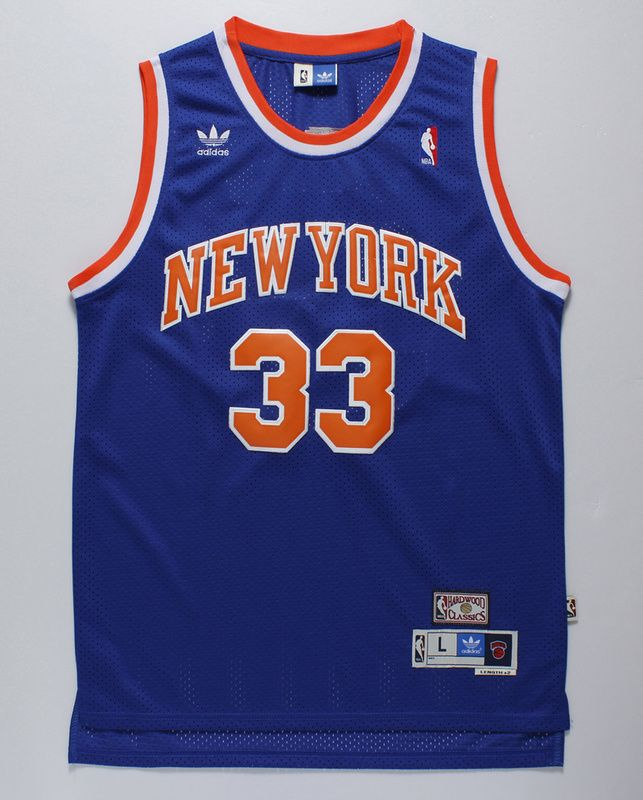ad8c7b1a ... White Jersey New York Knicks 33 Ewing Throwback Jersey Blue Wholeasale  quality replicas NBA (Basketball) jerseys ...