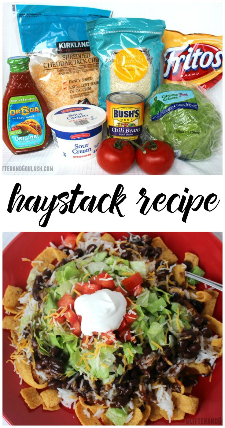 Haystack recipe....my hubbys favorite!! A twist on regular tacos!