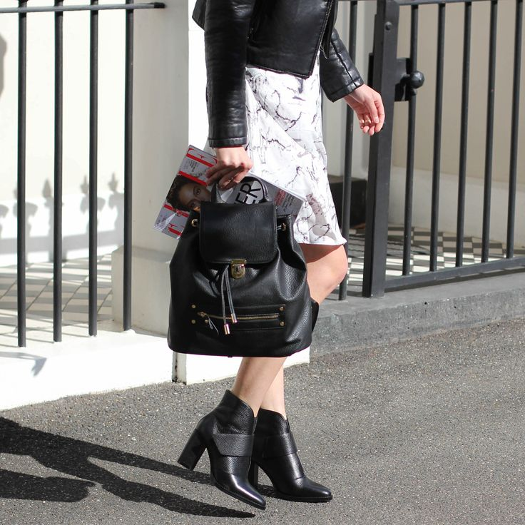 RUSTY Backpack and UNRULY Ankle Boots. Shop New Season Now: www.jomercer.com.au