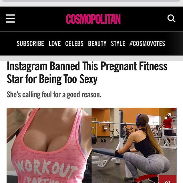 """Wondering where my account went?! 😳 Read all the details at www.cosmopolitan.com on how my account was """"permanently deactivated"""" for posting a BARE BELLY PREGNANCY 👶🏼WORKOUT VIDEO! 😱 My story will also be told on KCAL 9 NEWS tonight at 10pm!! @cbsnews This mama to be WAS NOT 🙅🏼going down without a fight 👊🏻 http://www.cosmopolitan.com/health-fitness/a7151485/brittany-perillee-instagram-ban/"""
