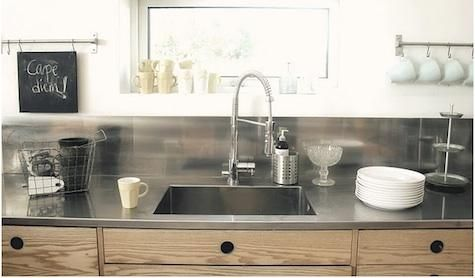 Best 25 stainless steel railing ideas on pinterest for Stainless steel kitchen countertops ikea