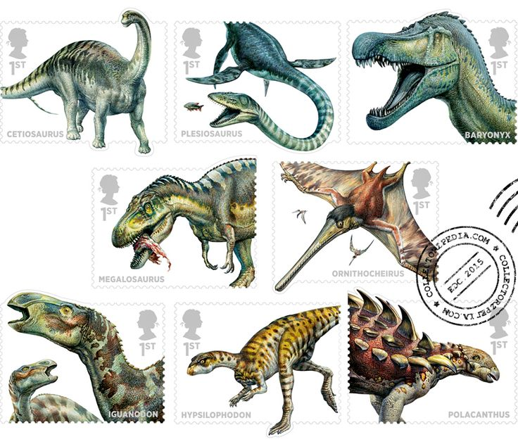 COLLECTORZPEDIA: UK Stamps Dinosaurs - Fossil Reptiles from the UK