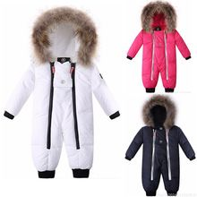 2015 winter romper baby boy clothes newborn cotton- padding rompers infant thick warm outerwear costume girls jumpsuit snowsuits(China (Mainland))
