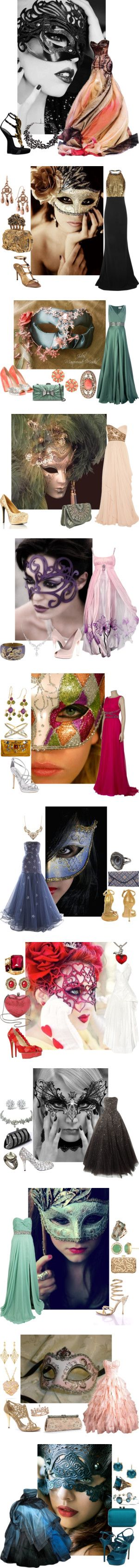 Masquerade Ball by eclare887 on Polyvore featuring Masquerade, Alexander McQueen, Giuseppe Zanotti, Tom Binns, Nina Armando, 1928, Temperley London, Banana Republic, Philosophy di Alberta Ferretti and Marchesa