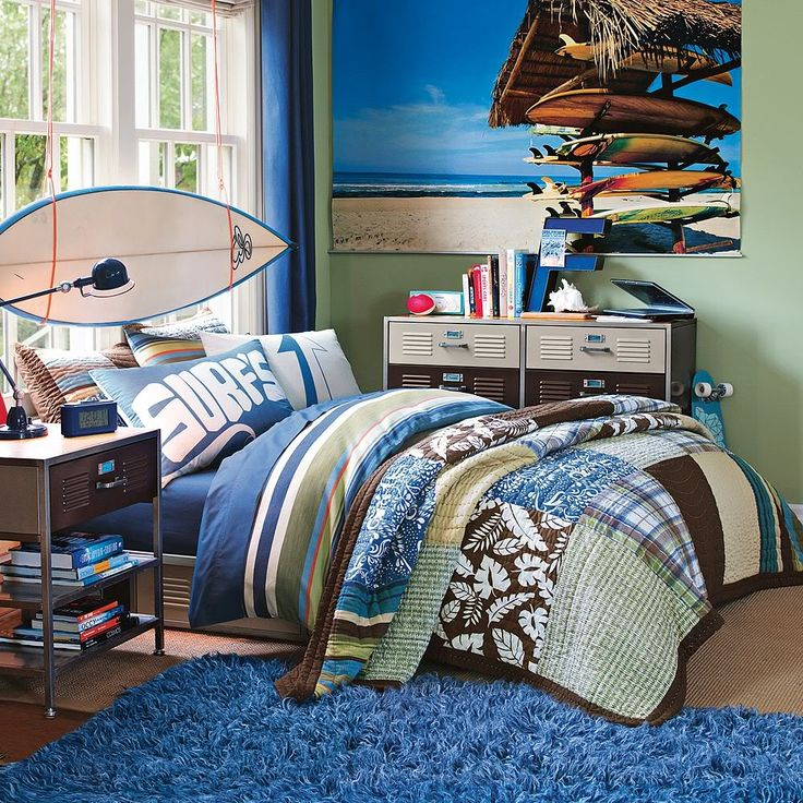A surf loving guy 39 s dream room tropical kids bedrooms for Kids dream room