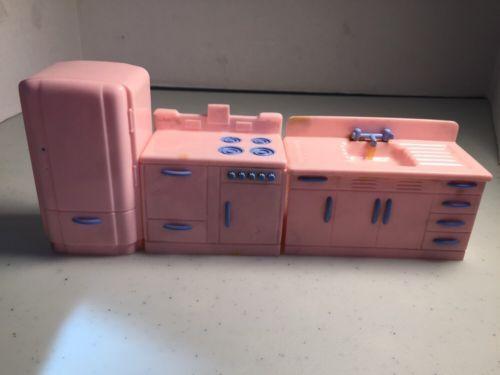 Renwal PINK Kitchen SET Vintage Tin Dollhouse Furniture