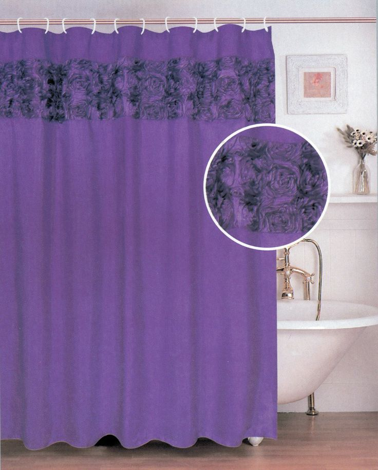 Lavender And Black Bathroom: 1000+ Images About Purple Shower Curtain On Pinterest