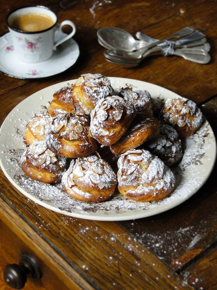 marzipan puffs (chouquettes)