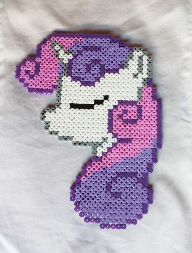 Sweetie Belle perler portrait own desing by MeLoDyMiiau