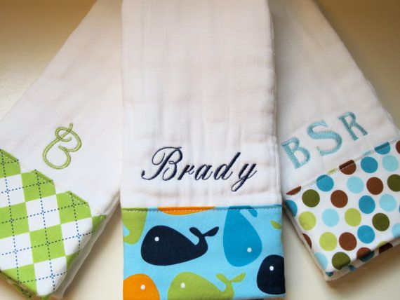 62 Best Monogram Burp Cloth Boy Images On Pinterest Monogram