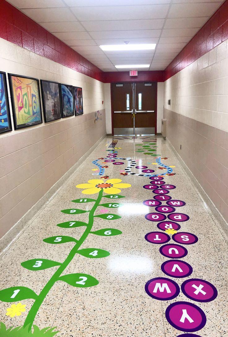 Оформление коридоров начальной школы в картинках