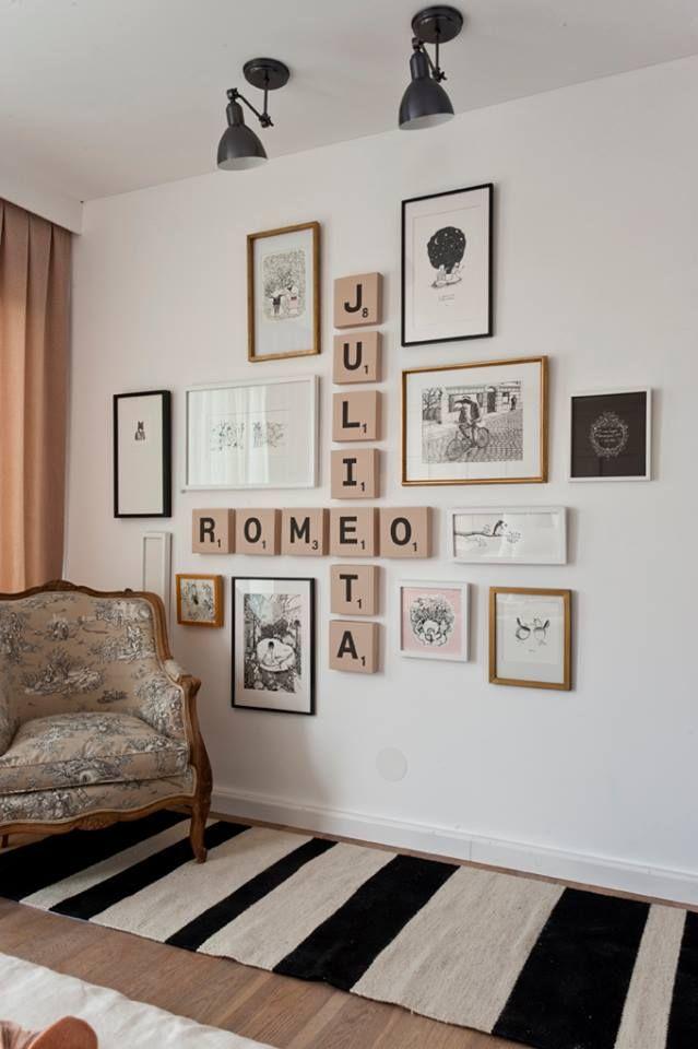 Si necesitas inspiración para decorar las paredes de tu casa toma nota de este tip. #decoración #paredes