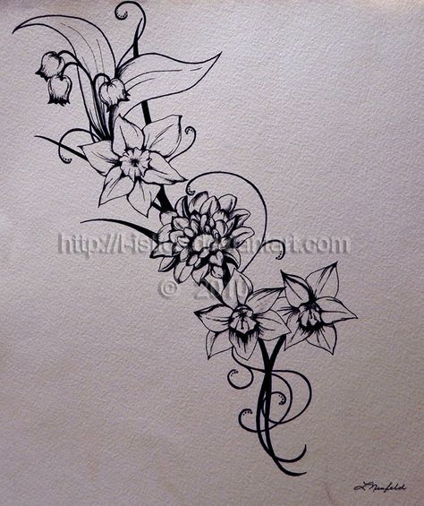 December Narcissus Flower Tattoos November birth flower tattoo