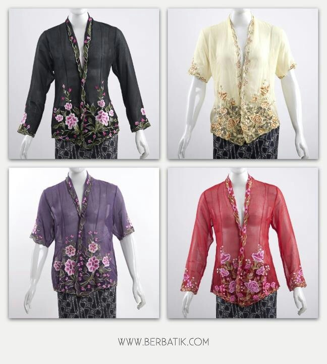 Kebayas....Traditional and Modern with shorter sleeves ? What do you think..?