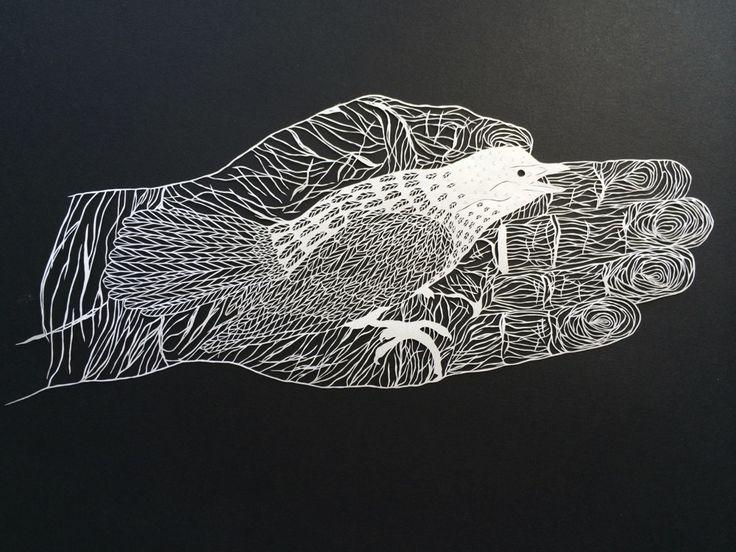Maude White papercut art