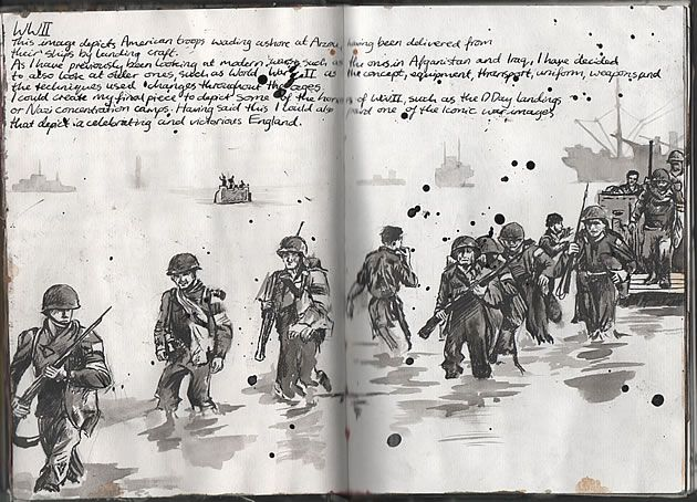drawing of soldiers