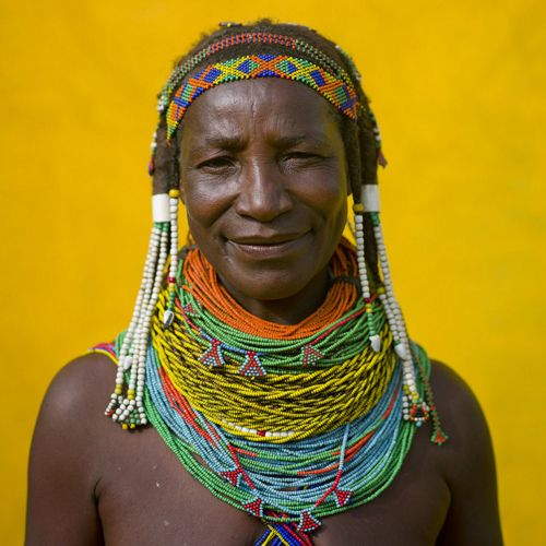 #South Africa #Africa #yellow #beads