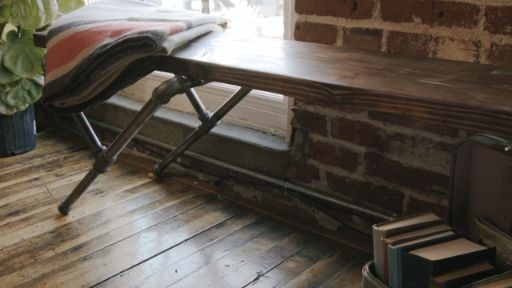 DIY Industrial Pipe Bench