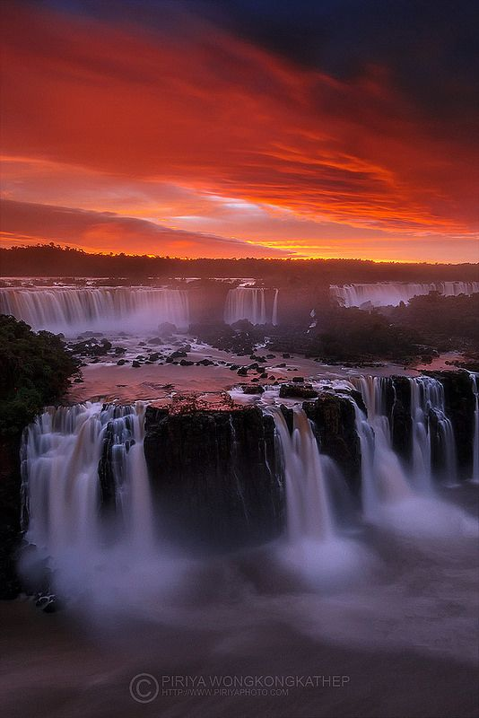 Beautiful Sunset, Iguazu Falls, Brazil | by Piriya (Pete) on Flickr