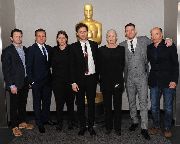 Dan Futterman Photos - (L-R) Writer Dan Futterman, actor Steve Carell, producer Megan Ellison, director/producer Bennett Miller, actress Vanessa Redgrave, actor Channing Tatum, and producer Jon Kilik attend The Academy of Motion Picture Arts and Sciences hosts an official academy members screening of Foxcatcher at The Academy Theatre at Lighthouse International on November 11, 2014 in New York City. - The Academy Of Motion Picture Arts And Sciences Hosts An Official Academy Members Screening…