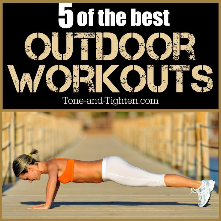 """Refuse to let the nice weather outside go! There's still time to get in a few of the """"5 Best Outdoor Workouts"""" from Tone-and-Tighten.com! #workout"""