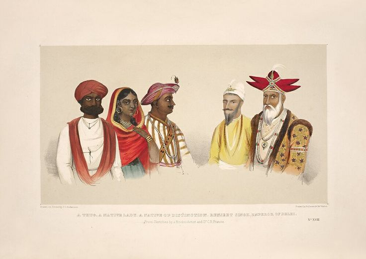 The most important company painting~Thug~Woman~Tipu Sultan~Ranjit Singh~Bahadur Shah~All of the East India Company's problems in one sketch~1848~Akbar Khan