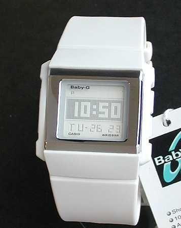 カシオ腕時計 BG-2001-7DR  ブランド Baby-Gカスケットシリーズ 白スタイリッシュなスクエアフェイスCASIOベビーG海外直輸入品薄型で腕にフィットレディース  女性用 時計 ウォッチ 贅沢