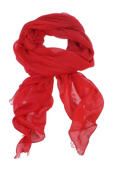 Solid Colour Scarf - Red $44.95 #leethal #accessories #fashion