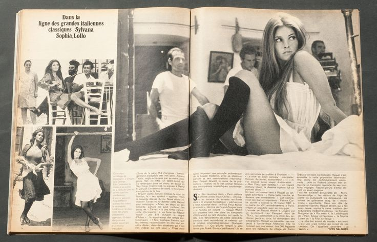 parismatch french vintage magazine raquel welch cover 17 october 1970  70s hair  French