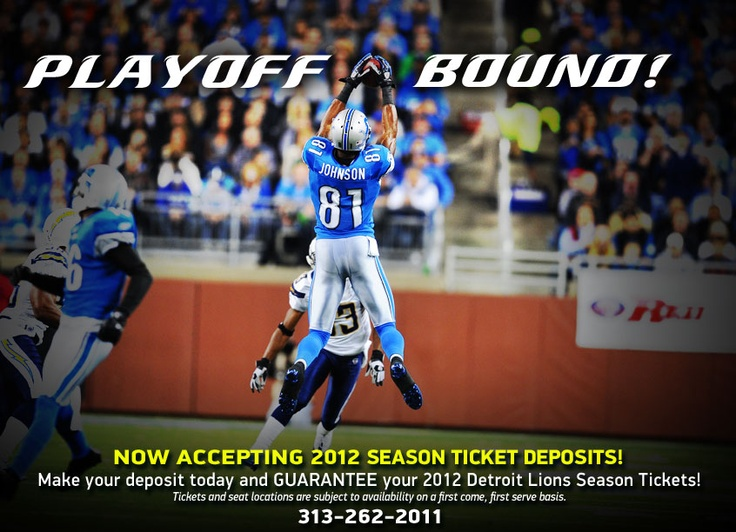 Detroit Lions - headed to the playoffs!