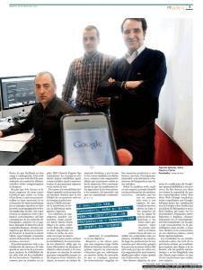 Página 3 del artículo que el Diario de León  dedicó a Seo Asesor el martes 28 de mayo de 2013