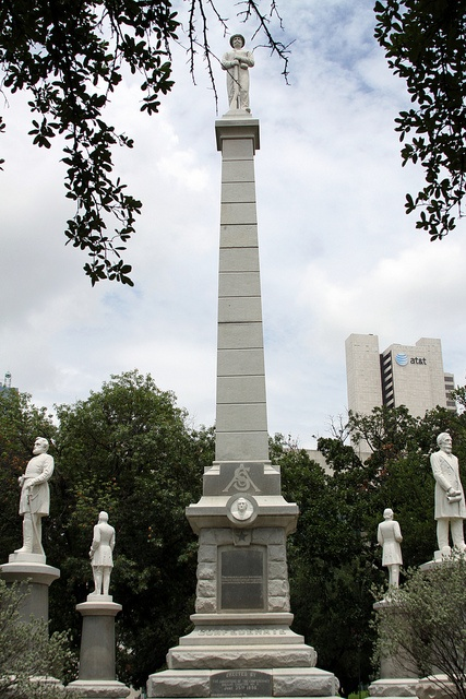 The Confederate War Memorial in Dallas, Texas, is a monument commemorating those who fought on the Confederate side of the American Civil War, including four of its greatest leaders and to the cavalry, infantry, and naval forces. Surrounding the base are statues of General Robert E. Lee, General Stonewall Jackson, General Albert Johnston, and President Jefferson Davis.