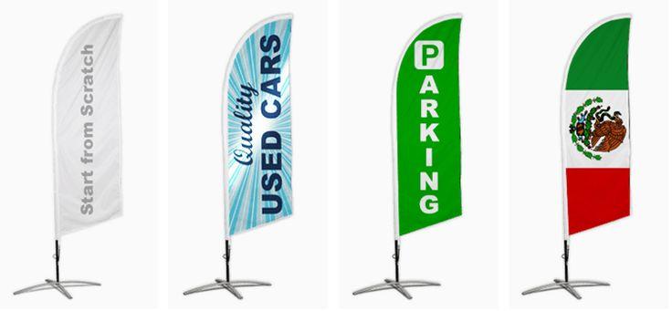 Custom cheap feather flags beach flag freedesign in 2020