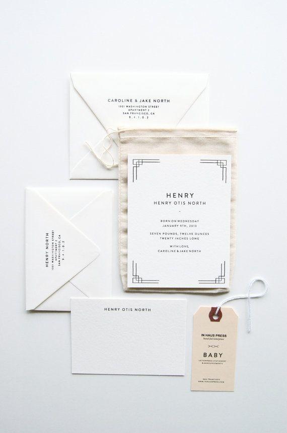 Henry Bebé anuncios & sistema de papelería por inhauspress en Etsy, $350.00