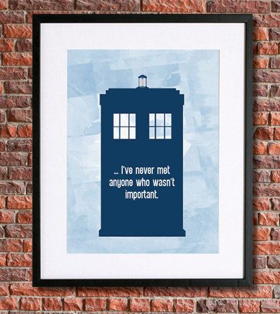 """Doctor Who Tardis Poster 
