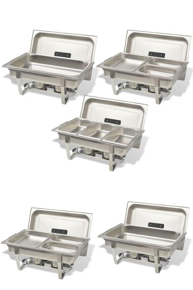 Warming Buffet Trays Stainless Steel Serving Heater Dishes Hotel Restaurant Part