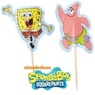 Deze set van 24 SpongeBob cocktail prikkers stelen de show op elk feestje! En ze zijn prima te combineren met SpongeBob baking cups.