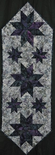 Mini Stars Table Runner ~ Quiltworx.com, made by Certified Instructor, Maureen Wood
