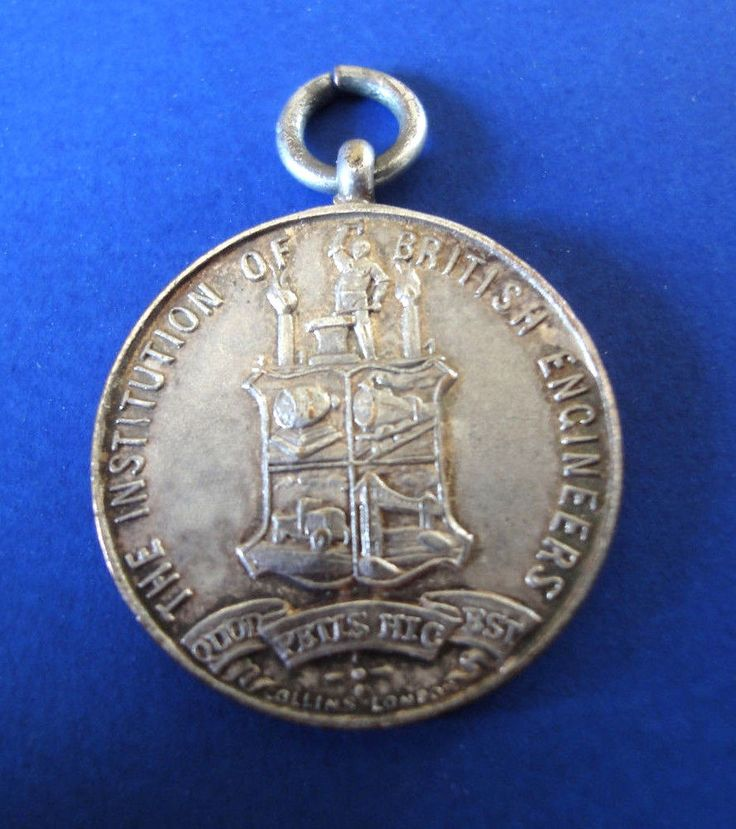 The Institute Of British Engineers ID/Membership Vintage Medal C.E. Roberts GB